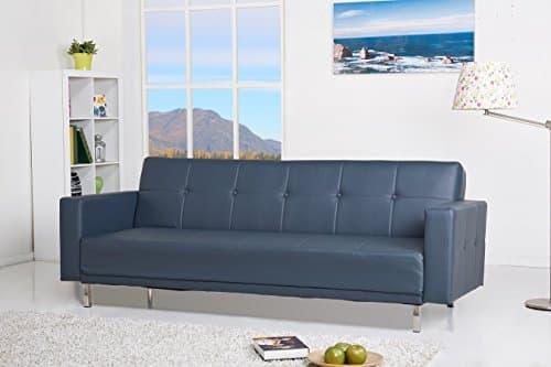 Luis Schlafcouch Kunstleder Schlaffunktion Sofa