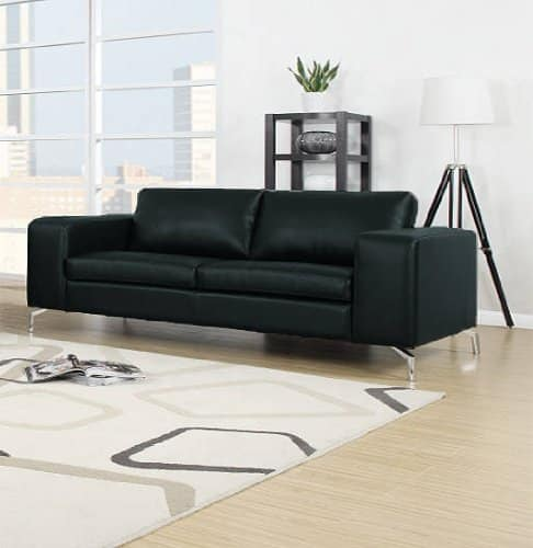 madison sofa 2er kunstleder schwarz m bel24. Black Bedroom Furniture Sets. Home Design Ideas