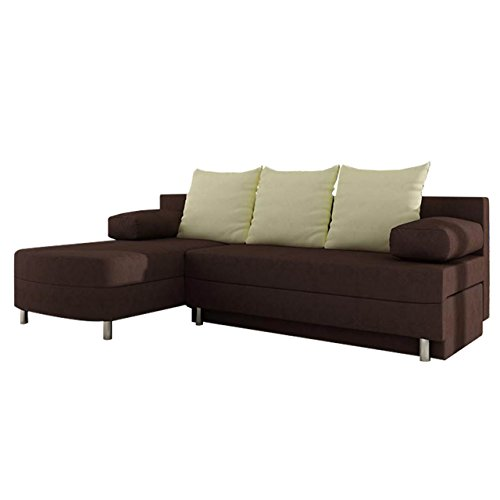 polsterecke sofa margot mit schlaffunktion und bettkasten gro e farbauswahl eckcouch ecksofa. Black Bedroom Furniture Sets. Home Design Ideas