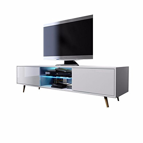 tv schrank lowboard sideboard tisch m bel board rivano mit led beleuchtung m bel24. Black Bedroom Furniture Sets. Home Design Ideas