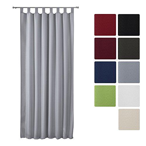 Beautissu-Blickdichter-Schlaufen-Vorhang-Amelie-140x245-cm-Grau-Uni-Dekorative-Gardine-Schlaufenschal-Fenster-Schal-0