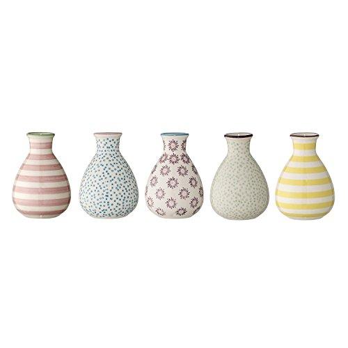 Bloomingville - Patrizia Vase - Multi-color - Steingut - 5 er Set - Ø 6,5 - Höhe 11 cm