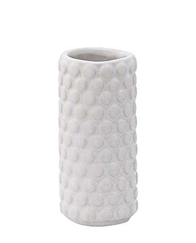 Bloomingville-Struktur-Vase-wei-4xH9cm-0