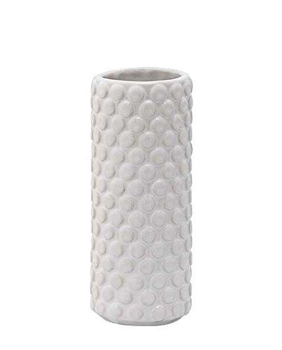 Bloomingville Struktur Vase weiß Ø5xH13cm