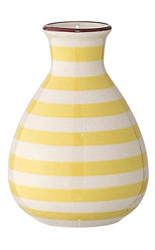 Bloomingville Vase Patrizia 6,5 x 11 cm gelb gestreift