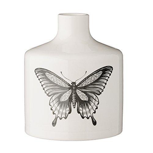 Bloomingville-Vase-Schmetterling-Schwarz-Wei--12cm-x-H-15-cm-0