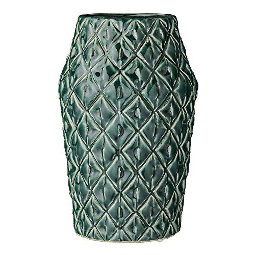 Bloomingville Vase Square Structure dunkelgrün