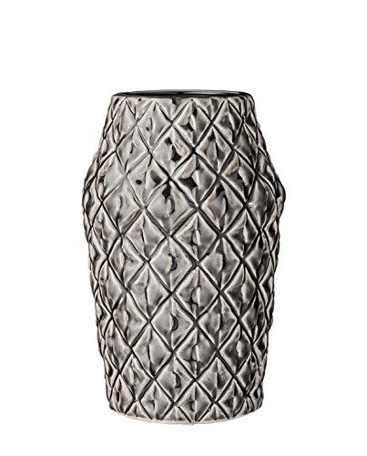 Bloomingville-Vase-square-grau-Keramik-mit-Struktur-0