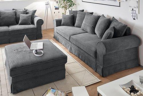 design schlafsofa melbourne anthrazit mit bettkasten cord sofa couch schlafcouch schlaffunktion. Black Bedroom Furniture Sets. Home Design Ideas