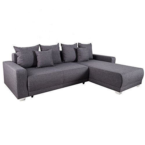 ecksofa tailors cut beidseitig aufbaubar grau federkern. Black Bedroom Furniture Sets. Home Design Ideas