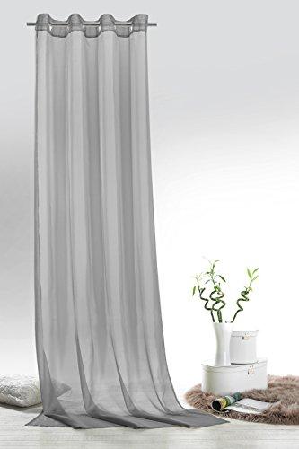 FashionJoy-senschal-Voile-grau-HxB-245x140-cm-transparent-einfarbig-Dekoschal-Gardine-Typ418-0