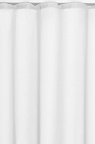 Gardine-Vorhang-Transparent-Kruselband-in-Weiss-245x140-cm-Hhe-x-Breite-Dekoschal-Voile-Uni-einfarbig-Universalband-Fensterschal-Store-Fertiggardine-0