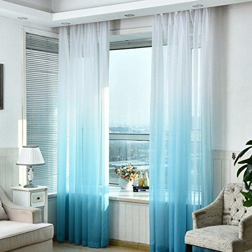 Hoomall-Transparenter-senvorhang-Farbverlufen-Gardinen-fr-Schlafzimmer-Kinderzimmer-senschal-Voile-Dekoschal-Gardine-BH-140245cm-1er-set-Blau-0