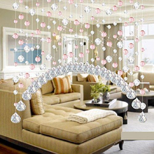 LCLrute-Kristall-Glas-Perle-Gardinen-Luxus-Wohnzimmer-Schlafzimmer-Fenster-Tr-Hochzeit-Dekor-Rosa-0