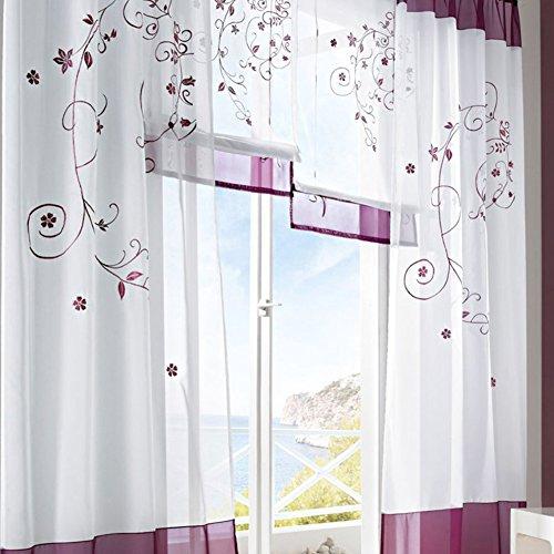 LianLe-Gardine-Vorhang-Landschaft-Stil-fr-Wohnzimmer-Schlafzimmer-Studiezimmer-B140175cm-Lila-0