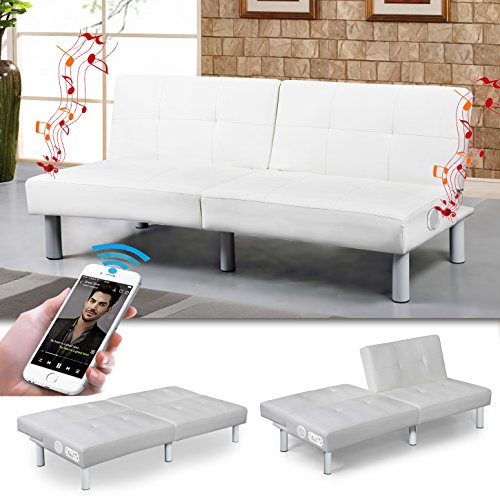 milano bluetooth schlafsofa weiss bettsofa schlafcouch 0. Black Bedroom Furniture Sets. Home Design Ideas