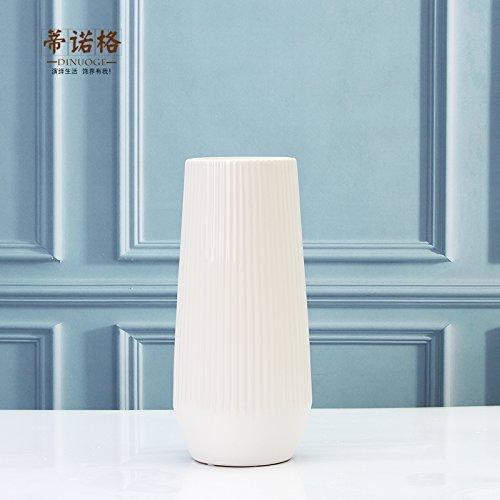 Maivas Keramik Ornamente Dekoration Vase Moderne,Einfache Vertikale Sprühwasser Blume Narrangements,Weiß Groß