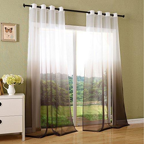 Schal-transparent-Farbverlauf-Vorhang-mit-sen-Gardine-Voile-2-Stck-245x140-Braun-204202-0