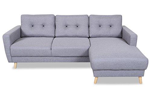 m bel24 sofa couch aek ecksofa scandi grau mit federkern 0. Black Bedroom Furniture Sets. Home Design Ideas