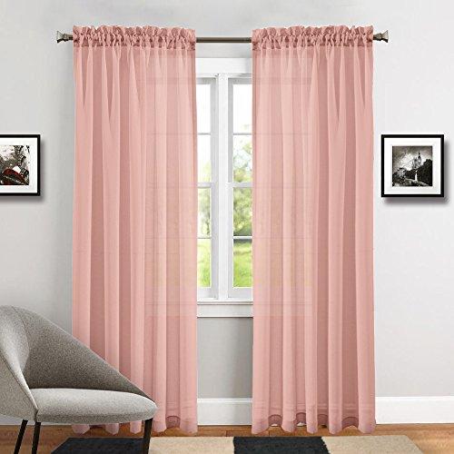 TOPICK-Voile-Vorhang-mit-sen-transparent-Gardine-2-Stcke-Gaze-paarig-senschals-fr-Duschzimmer-241-cm-x-140-cmH-x-B2er-SetRosa-0