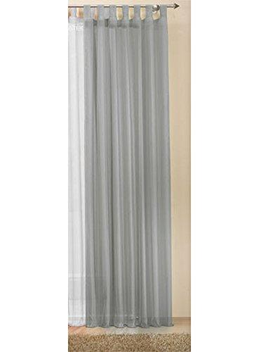 Transparente-einfarbige-Gardine-aus-Voile-viele-attraktive-Farben-245x140-Grau-61000-0