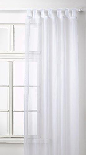 Transparente-einfarbige-Gardine-aus-Voile-viele-attraktive-Farben-245x140-Wei-61000-0