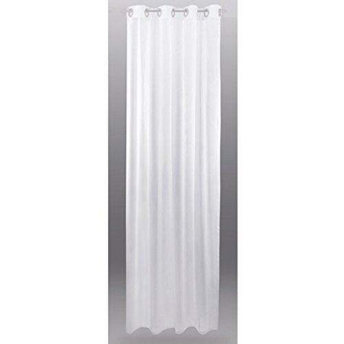 Transparenter-sen-Vorhang-B140-x-L145-cm-wei-reinwei-Voile-Dekoschal-Gardine-senschal-Fenster-Schal-0