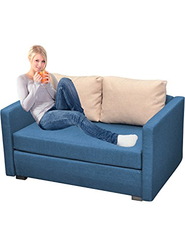 vcm 2er schlafsofa sofabett couch sofa mit schlaffunktion material und farbwahl blau m bel24. Black Bedroom Furniture Sets. Home Design Ideas