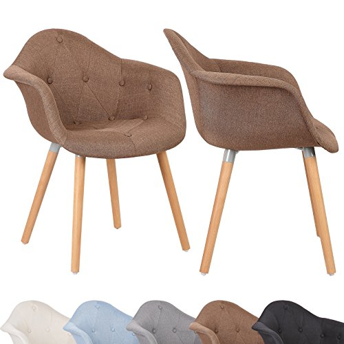 woltu 2 x esszimmerst hle esszimmerstuhl sitzgruppe mit lehne leinen stuhl k chenstuhl holz neu. Black Bedroom Furniture Sets. Home Design Ideas