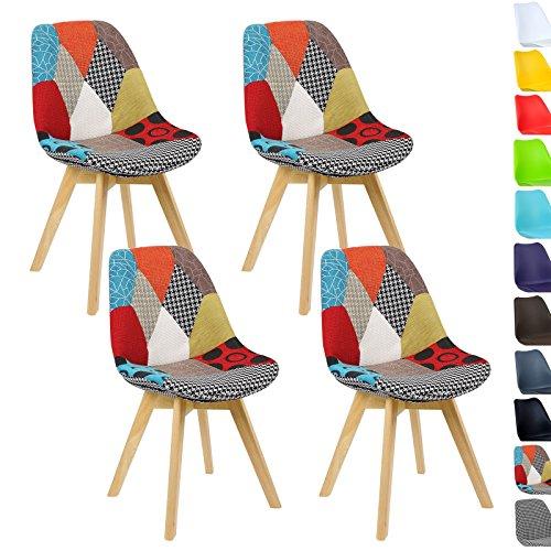 Woltu 4er set esszimmerst hle k chenstuhl design stuhl esszimmerstuhl leinen holz neu design - Esszimmerstuehle design ...