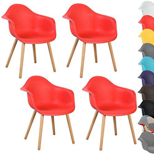 woltu 4er set esszimmerst hle k chenstuhl design stuhl esszimmerstuhl mit lehne kunststoff holz. Black Bedroom Furniture Sets. Home Design Ideas
