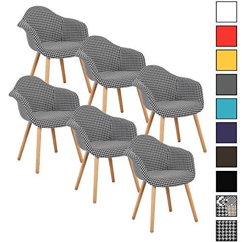 woltu 6er set esszimmerst hle k chenstuhl design stuhl. Black Bedroom Furniture Sets. Home Design Ideas