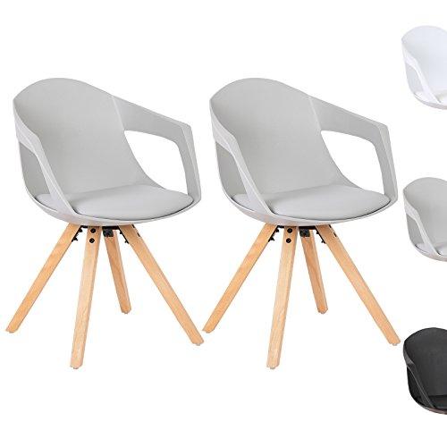 woltu bh49gr 2 2 x esszimmerst hle 2er set esszimmerstuhl mit holzbeine design stuhl. Black Bedroom Furniture Sets. Home Design Ideas
