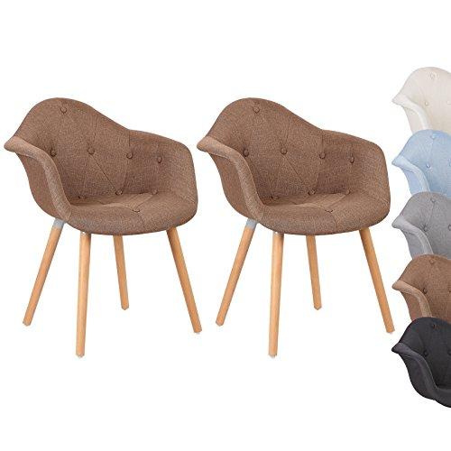 woltu bh55br 2 esszimmerst hle 2er set esszimmerstuhl mit lehne design stuhl k chenstuhl leinen. Black Bedroom Furniture Sets. Home Design Ideas