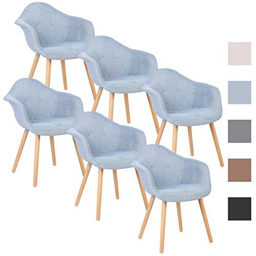 woltu bh55hbl 6 6 x esszimmerst hle 6er set. Black Bedroom Furniture Sets. Home Design Ideas