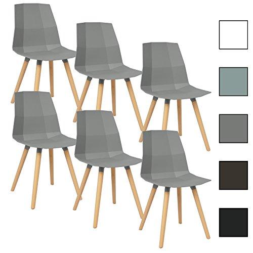woltu bh63gr 6 6 x esszimmerst hle 6er set. Black Bedroom Furniture Sets. Home Design Ideas