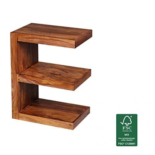 M bel24 finebuy beistelltisch massivholz sheesham e cube for Design couchtisch echtholz