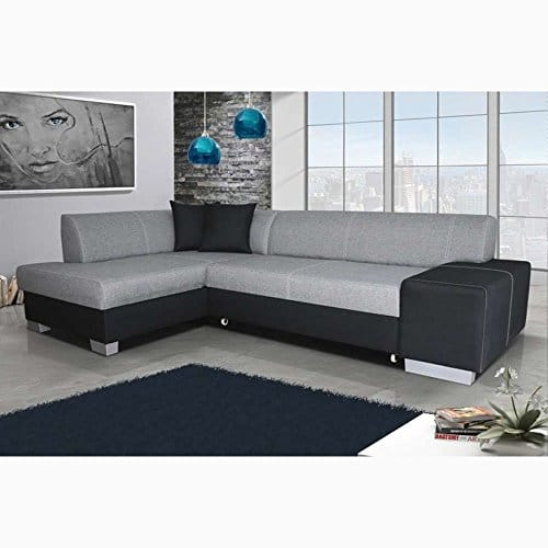justyou fabio ecksofa polsterecke schlafsofa strukturstoff kunstleder hxbxt 73x268x167 cm. Black Bedroom Furniture Sets. Home Design Ideas