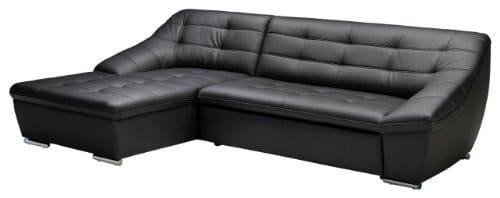 Polsterecke-LucasLongchair-mit-Bettkasten-3-Bett165x81x287-cmLeder-Punch-schwarz-Poroflex-softy-schwarz-0