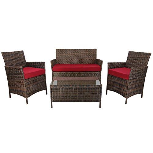 7 teilige rattan sitzgruppe lounge kuba lounge set poly rattan inkl auflagen und bez ge. Black Bedroom Furniture Sets. Home Design Ideas
