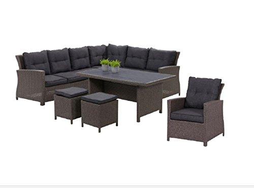 hohe dinning poly rattan lounge havanna xl rechts inklusive sessel und zwei hocker mandalika. Black Bedroom Furniture Sets. Home Design Ideas