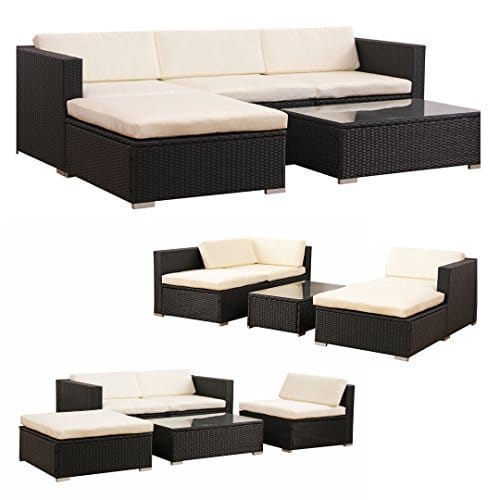 m bel24 m bel g nstig poly rattan lounge gartenset schwarz sofa garnitur polyrattan. Black Bedroom Furniture Sets. Home Design Ideas