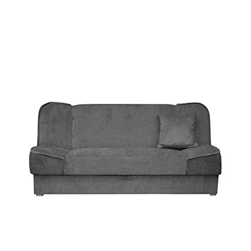 mirjan24 schlafsofa gemini mit bettkasten 3 sitzer sofa. Black Bedroom Furniture Sets. Home Design Ideas