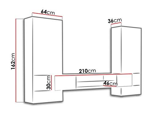 ausverkauf wohnwand tori schrankwand fernsehwand grifflose ffnen tv lowboard vitrine. Black Bedroom Furniture Sets. Home Design Ideas