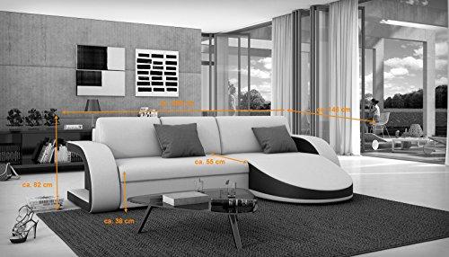 sam schlafsofa paulino wei schwarzes ecksofa 259 x 146. Black Bedroom Furniture Sets. Home Design Ideas