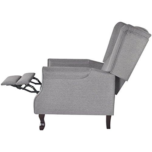 vidaxl ohrensessel tv sessel fernsehsessel relaxsessel fernsehstuhl polstersessel grau 4. Black Bedroom Furniture Sets. Home Design Ideas