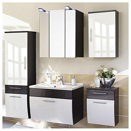 badm bel toronto 5tlg set in hochglanz weiss anthrazit by posseik m bel24. Black Bedroom Furniture Sets. Home Design Ideas