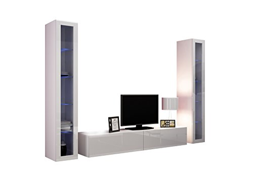 wohnwand vigo v anbauwand modernes wohnzimmer set mediawand glasvitrine h ngeschrank tv. Black Bedroom Furniture Sets. Home Design Ideas