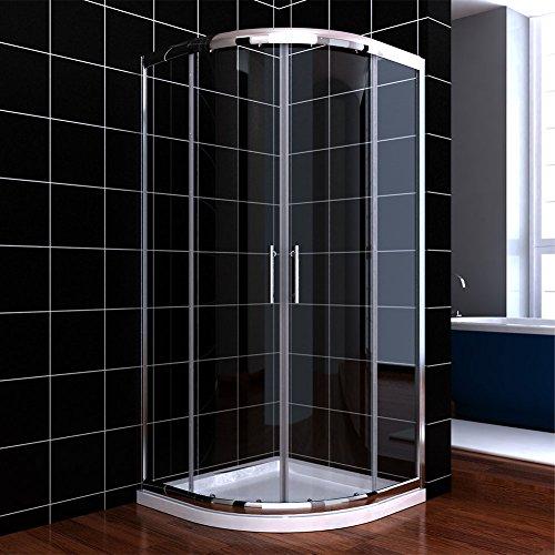 duschkabine viertelkreis 80x80cm duschabtrennung mit rahmen 6mm nano glas runddusche schiebet r. Black Bedroom Furniture Sets. Home Design Ideas