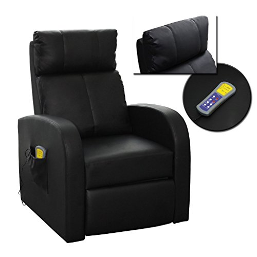 vidaxl massagesessel fernsehsessel relaxsessel massage tv sessel mit heizung schwarz 4 m bel24. Black Bedroom Furniture Sets. Home Design Ideas